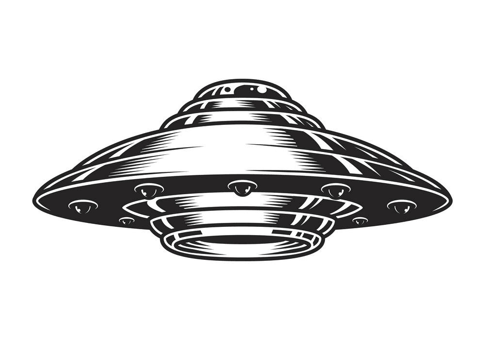 UFO clipart for kids