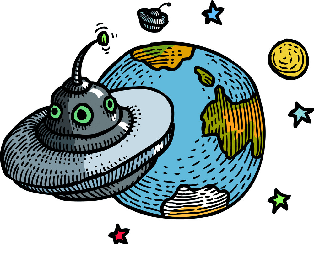 UFO clipart free for kid