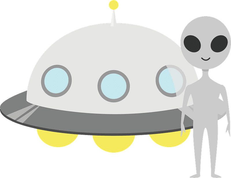 UFO clipart transparent 13