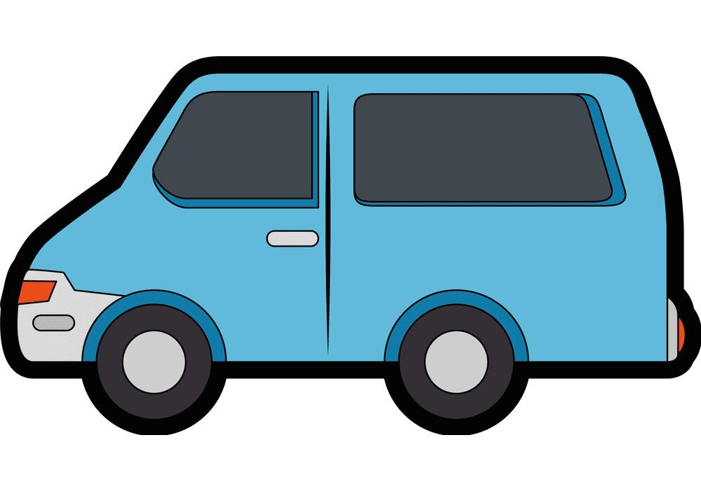 Van clipart for kids