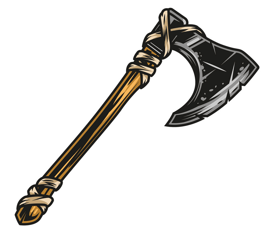 Viking Axe clipart