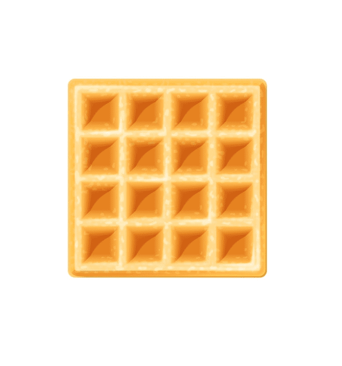 Waffle clipart for kid