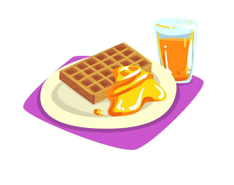 Waffle clipart free for kid