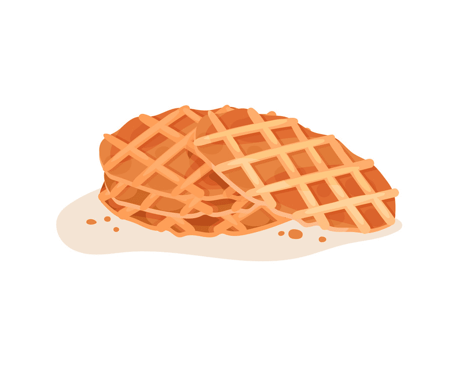 Waffle clipart free picture