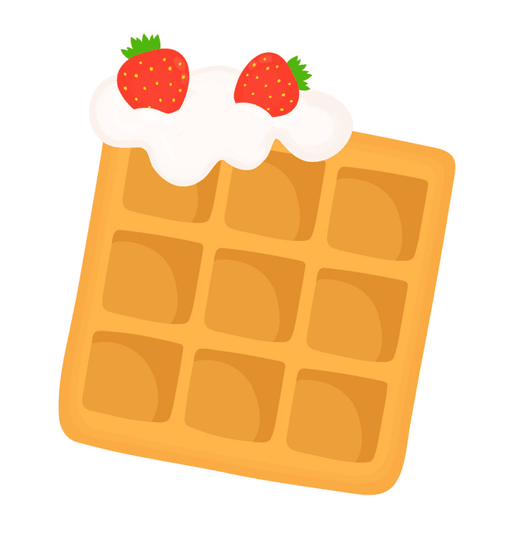 Waffle clipart images