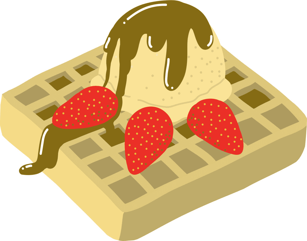 Waffle clipart picture