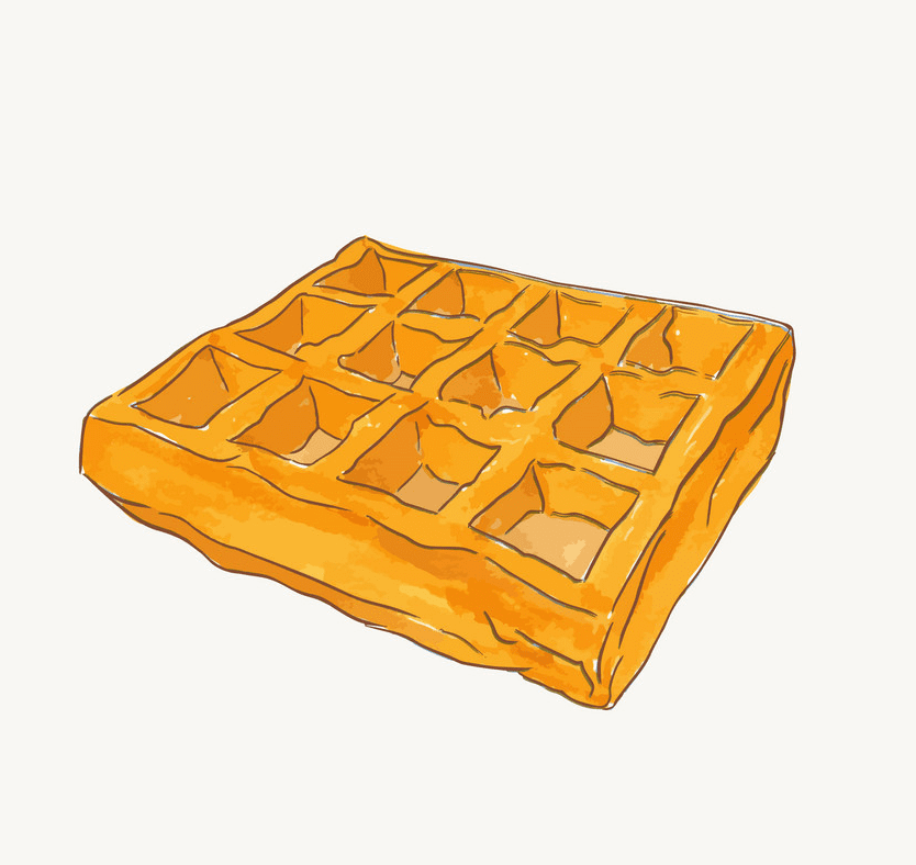 Waffle clipart png image