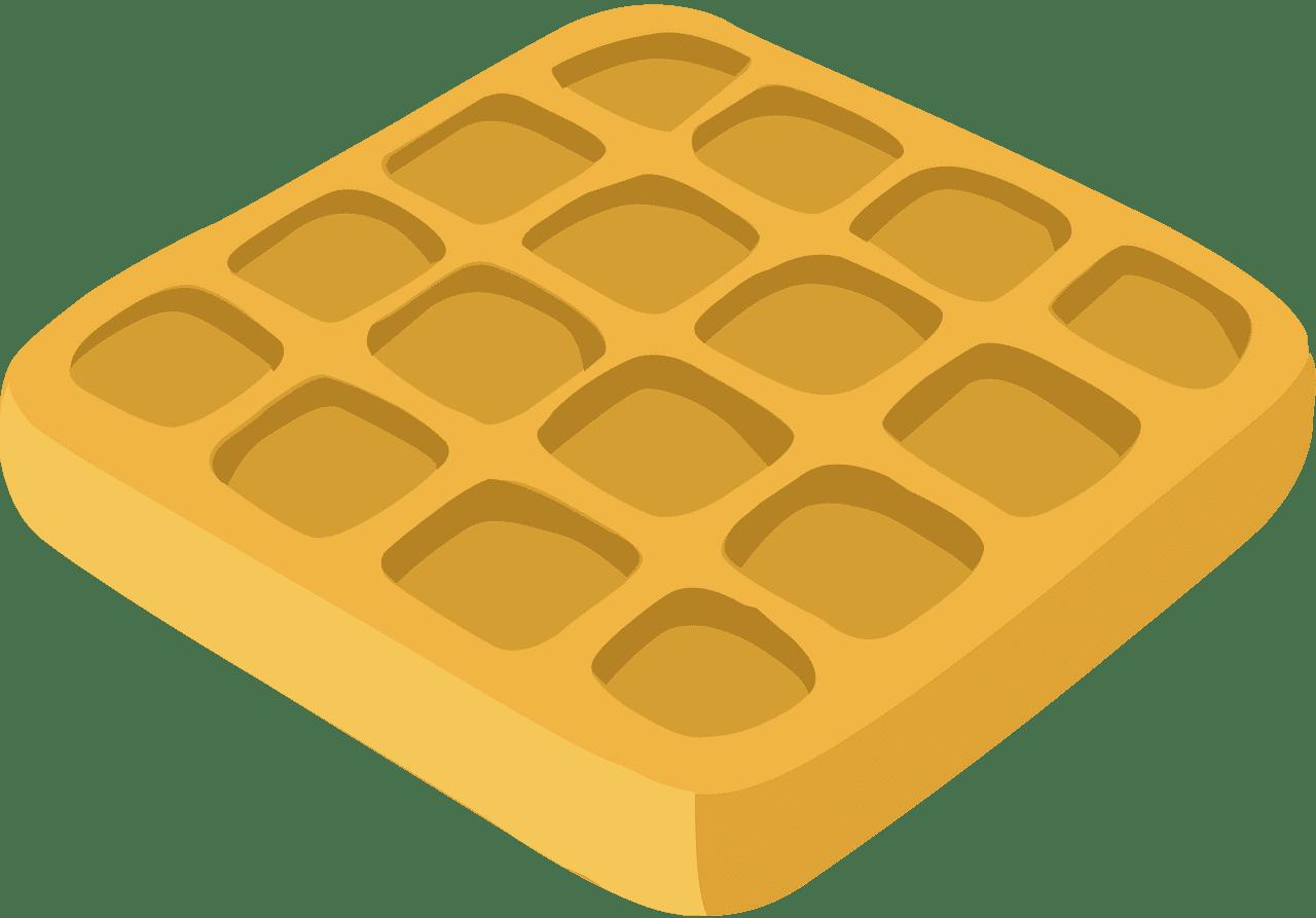 Waffle clipart transparent 1