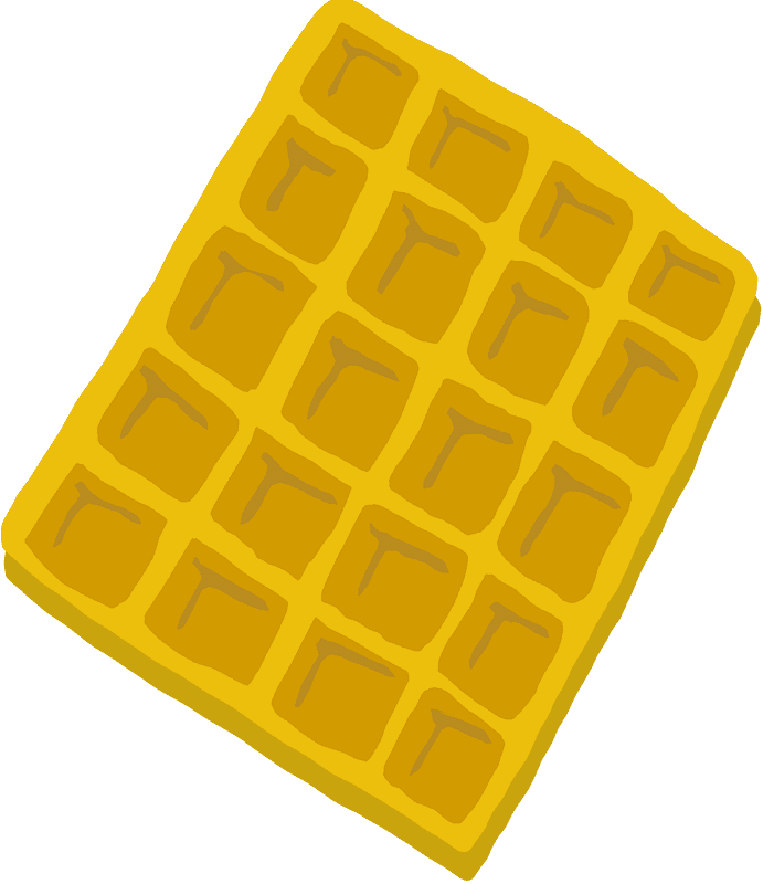 Waffle clipart transparent 4