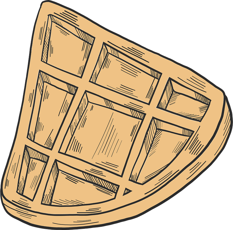 Waffle clipart transparent for free