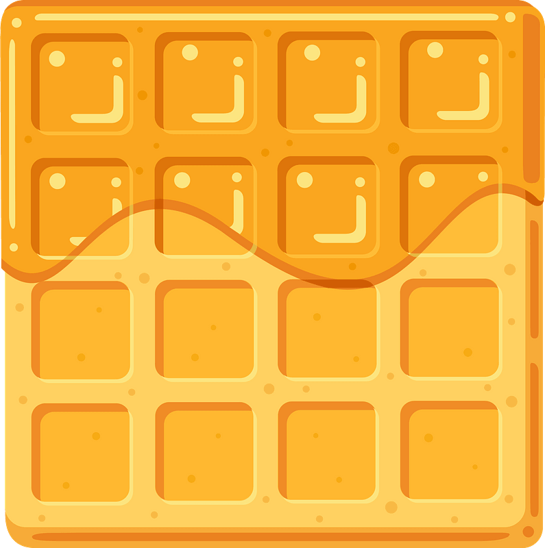 Waffle clipart transparent for kids