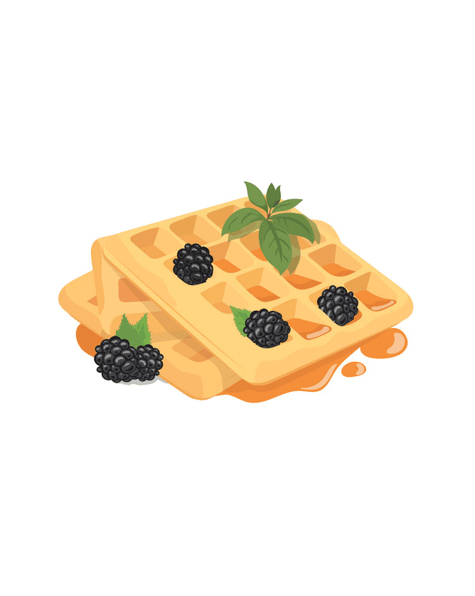 Waffles clipart for free
