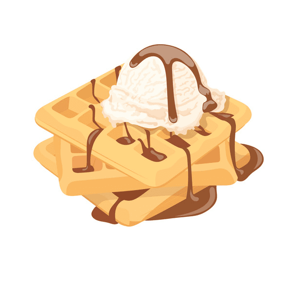 Waffles clipart free