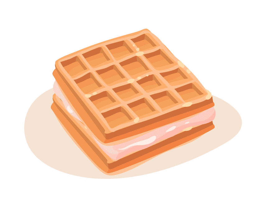 Waffles clipart image