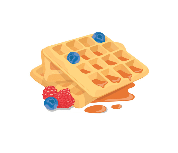 Waffles clipart png