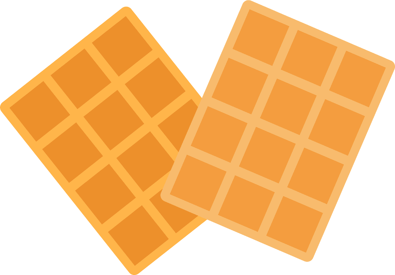 Waffles clipart transparent for kid
