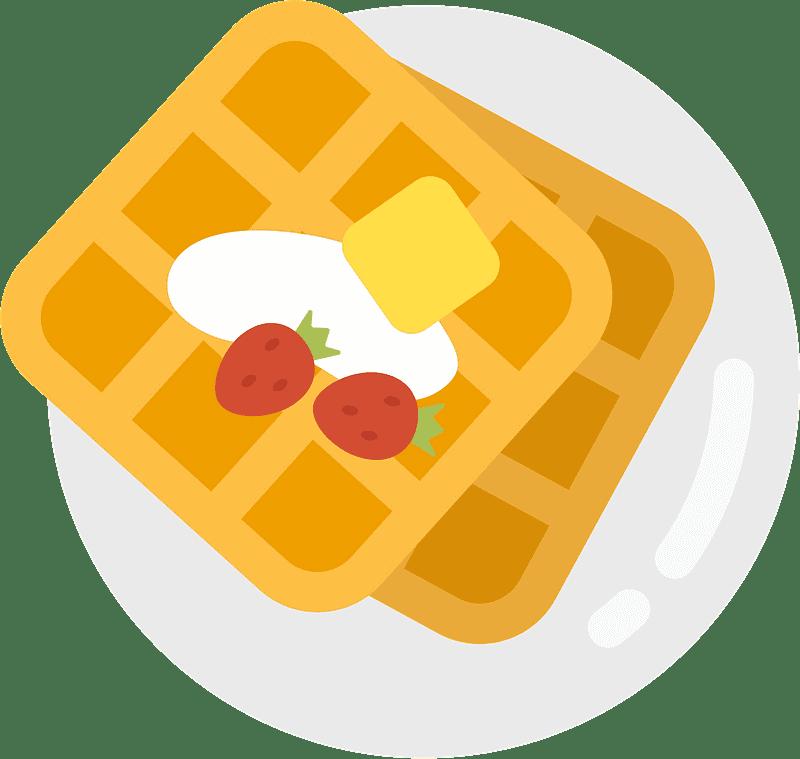 Waffles clipart transparent for kids