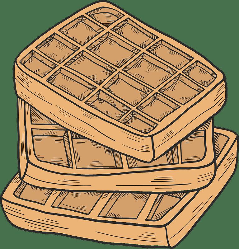 Waffles clipart transparent free
