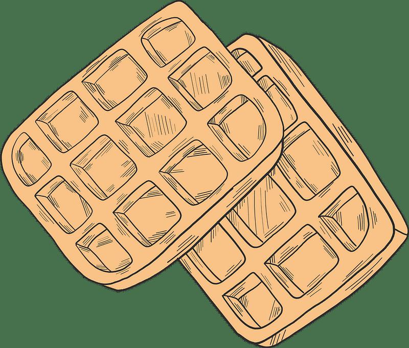 Waffles clipart transparent png