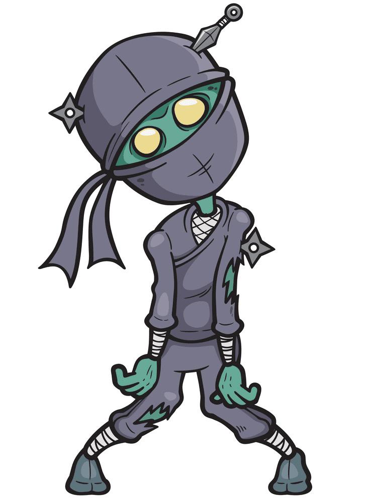 Zombie Ninja clipart