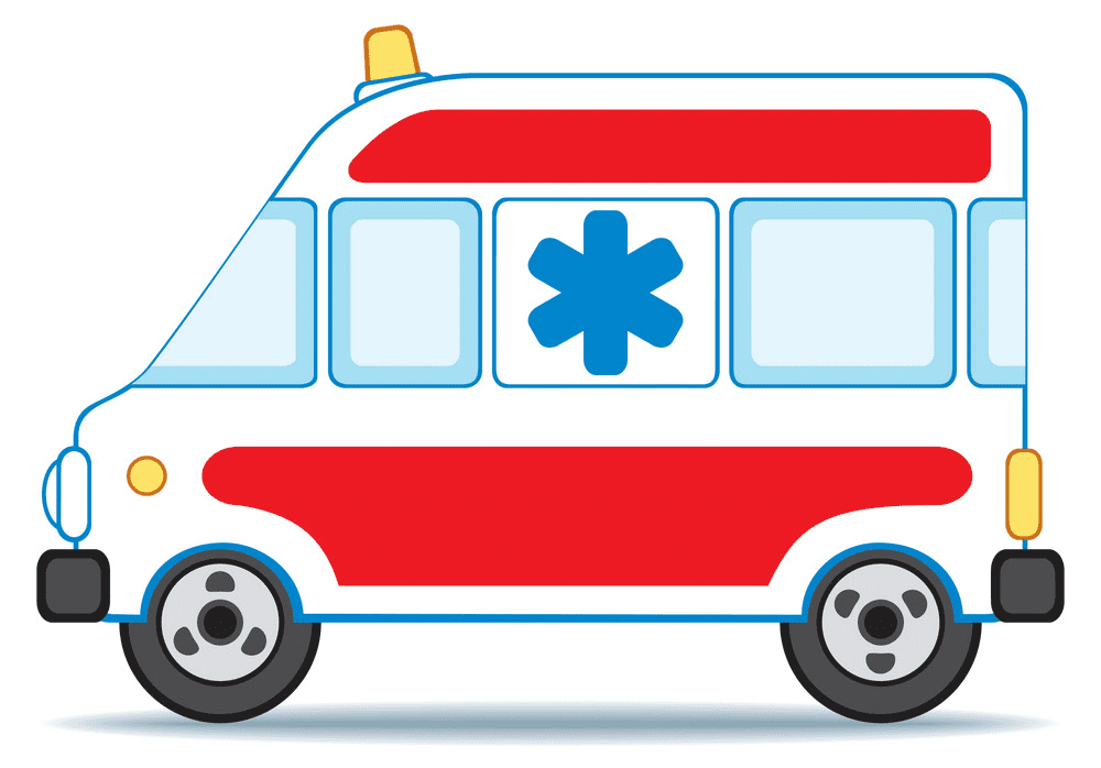 Ambulance clipart free for kids