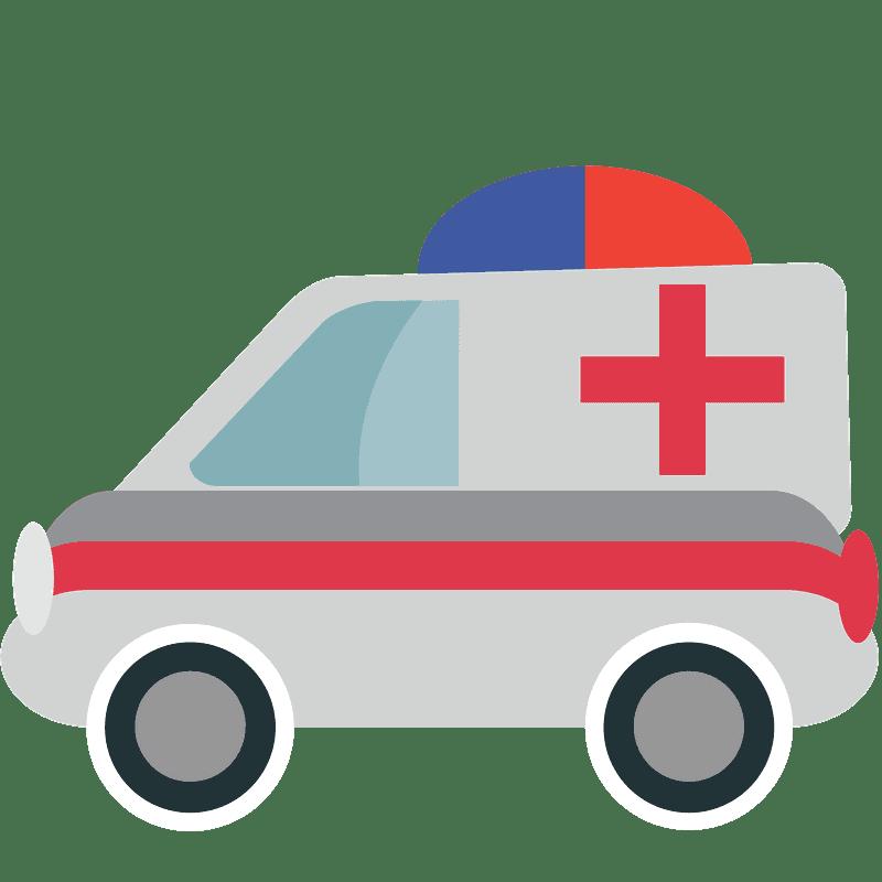 Ambulance clipart transparent background 1