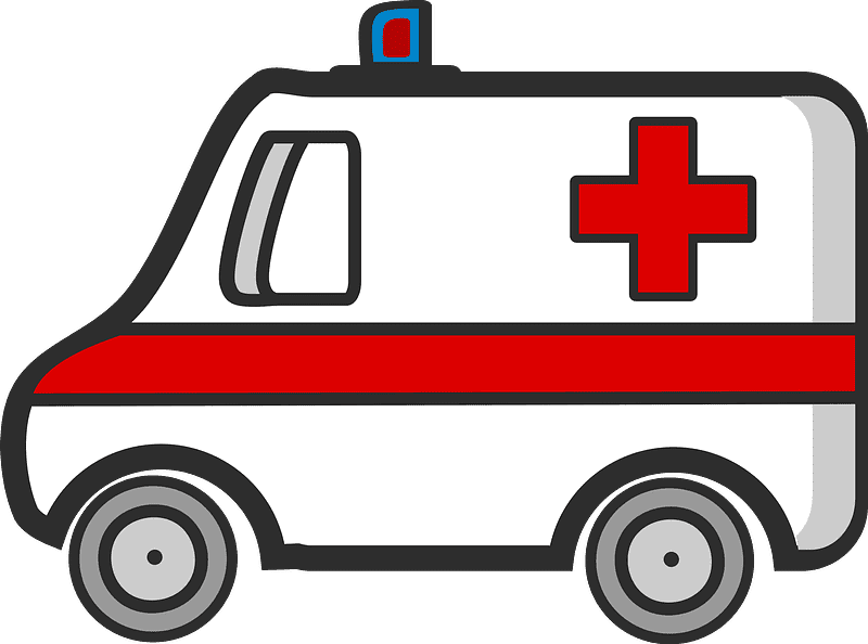 Ambulance clipart transparent background 11