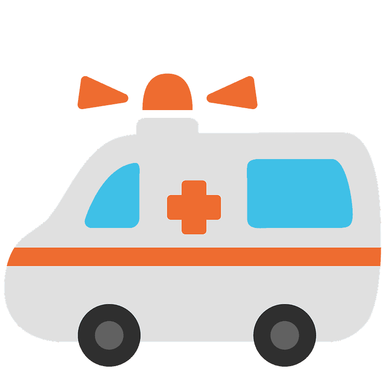 Ambulance clipart transparent background 4