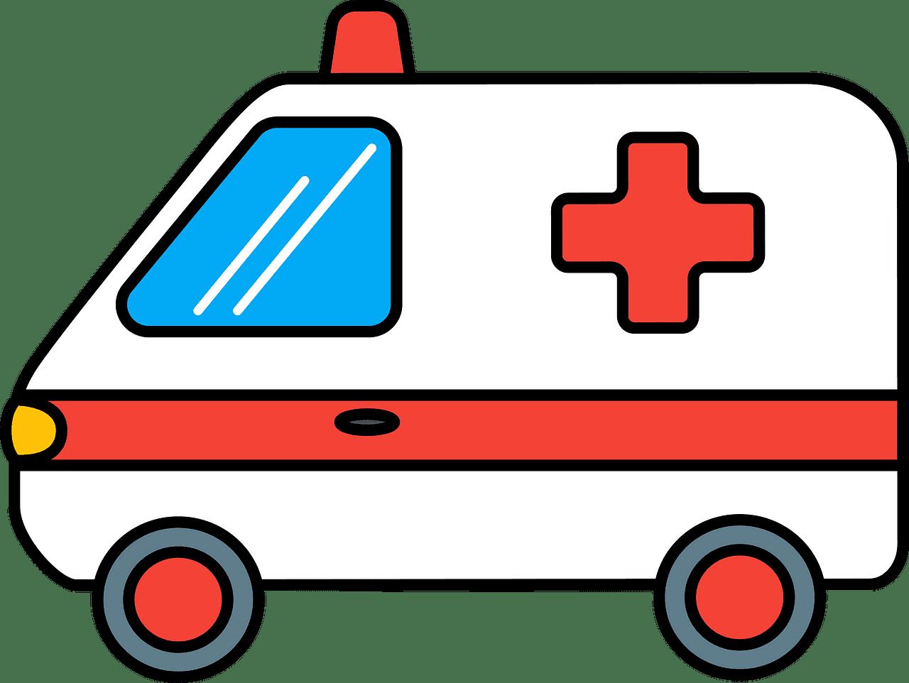 Ambulance clipart transparent for kid