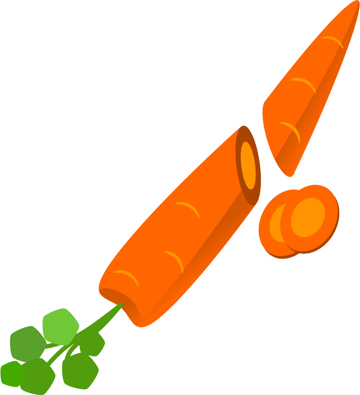 Carrot clipart transparent free