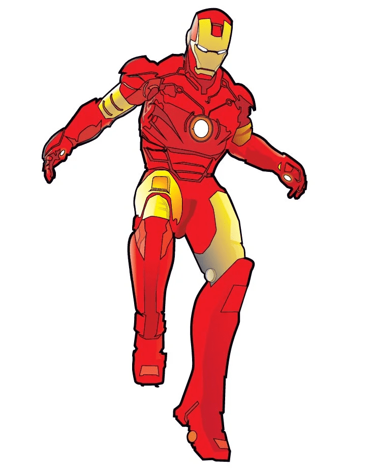 Free Iron Man clipart for kids
