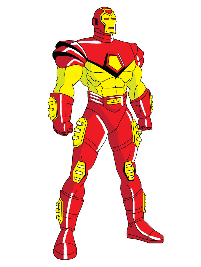 Free Iron Man clipart png for kid
