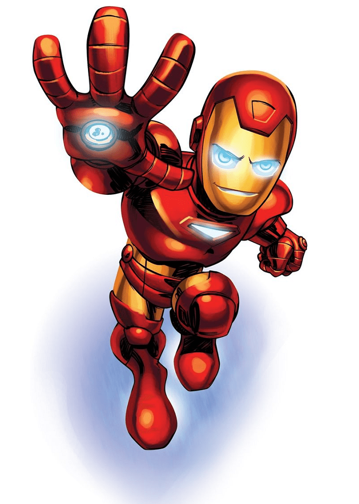 Free Iron Man clipart png for kids