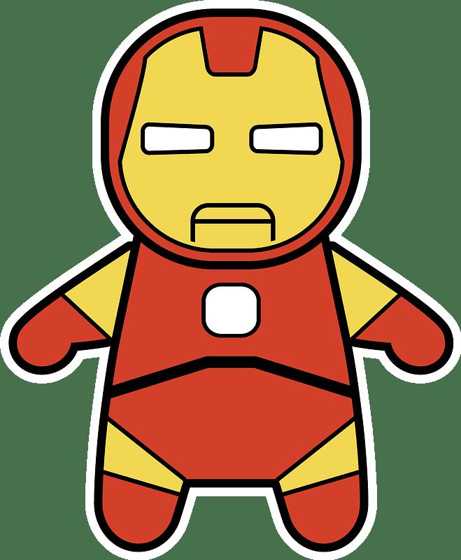 Iron Man clipart transparent free